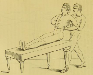 Visual instructions to one of the exercises. Roth 1851, 201.
